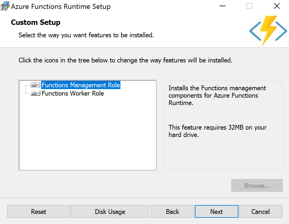running azure functions on azure germany with the functions